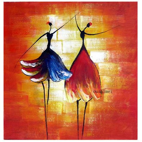 hand painted pictures abstract india dancer painting wall aliexpress com buy hand painted oil wall art beauty