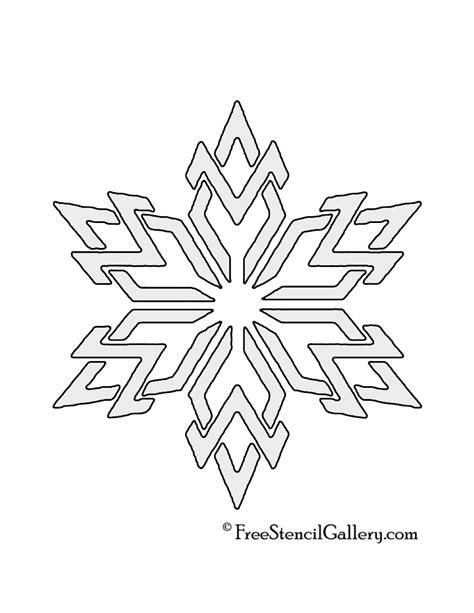 printable stencils of snowflakes snowflake stencil www imgkid com the image kid has it