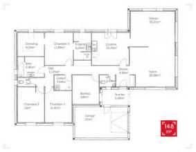plan de plain pied 150 m2 plans maisons