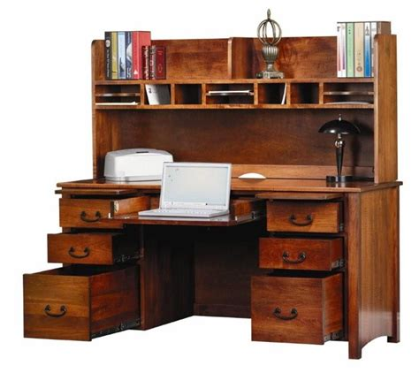 amish rivertowne 60 quot desk with open hutch top