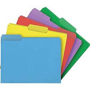 color file folders staples 174 colored top tab file folders 3 tab 5 color