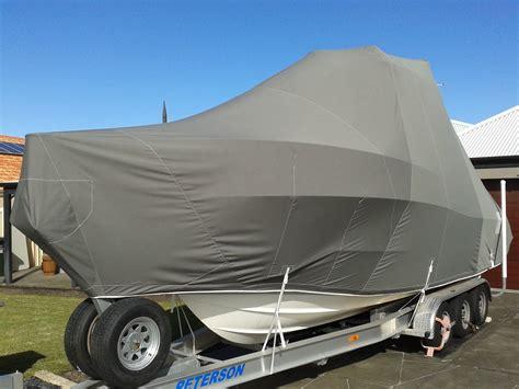 Full Boat Cover Charcoal Sunbrella Prestige Marine Trimmers Boat Covers Perth Bimini Tops Boat Cover Templates