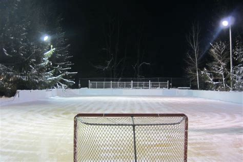 outdoor rink lighting rink of dreams michigan family built an amazing outdoor