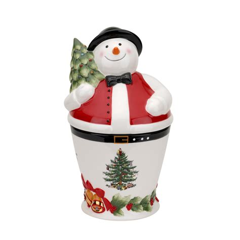 spode christmas tree mr snowman cookie jar 59 94 you
