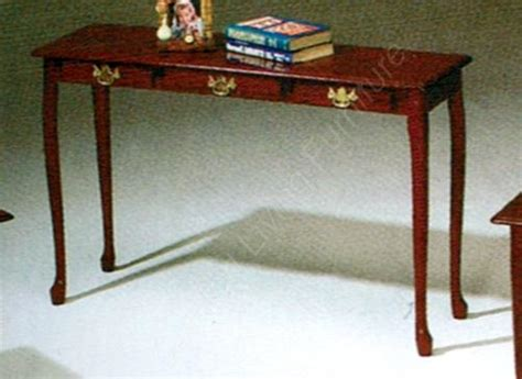 Cherry Finish Queen Anne Sofa Table Console New Free