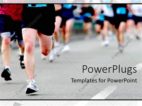 powerpoint template a group of athletes running together