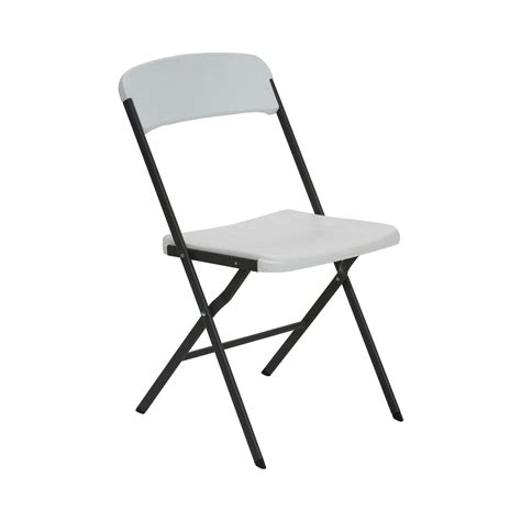 folding chairs bulk lifetime 684016 white granite chairs 6 pack on sale today
