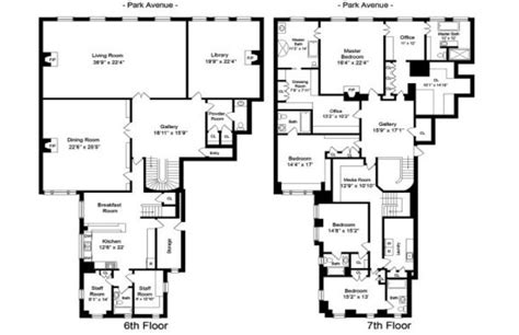 homes of the rich floor plans photos 6 7a 740 park avenue jackie bouvier kennedy