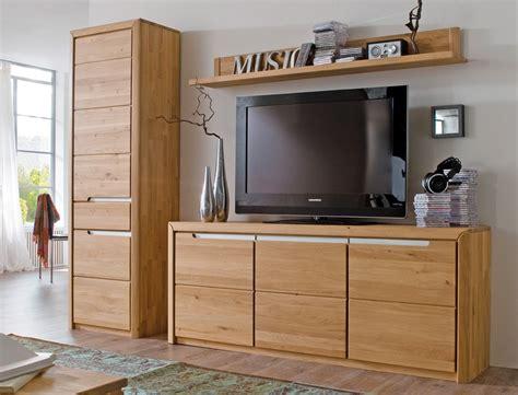 Wohnschrank Wohnzimmer by Wohnwand Pisa 33 Eiche Bianco Massiv 3 Teilig Medienwand