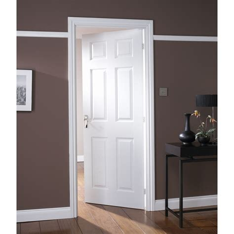 Colonial 6 Panel White Painted Internal Door 762mm Wide White Painted Doors Interior