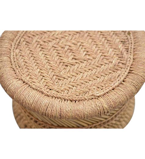 Woven Stools by Small Broad Stool With Woven Jute Top Set Of 2 By