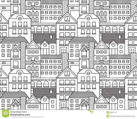 seamless pattern city vector city seamless pattern stock vector image 35867477