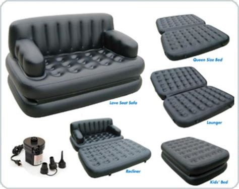 5 In 1 Air Sofa Bed New Bestway 5 In1 Sofa Air Bed With Free Electric Ebay