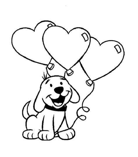 valentine dog coloring page valentine s day puppy coloring book