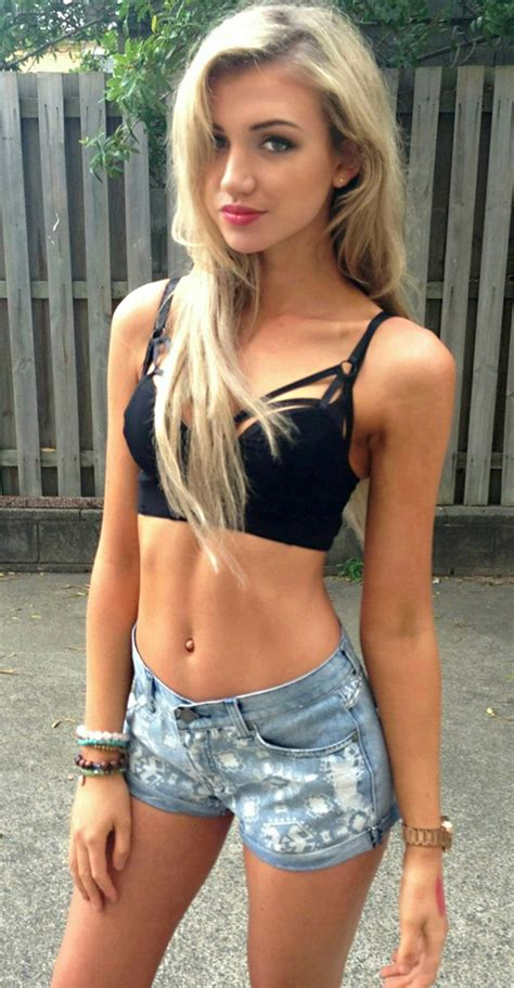 young girl models shorts captivating lean blonde beauty daisy dukes pinterest