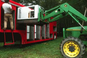 contained mobile biodiesel processing trailer farm hack