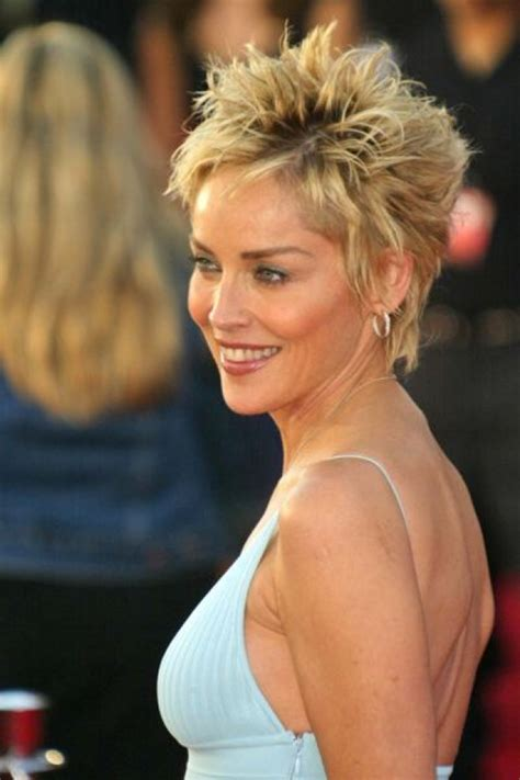 how to style sharon stones short hair style sharon stone short hairstyles hairstyles gallery