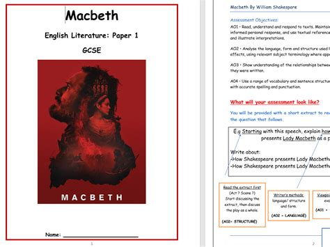 themes of macbeth gcse simi s shop teaching resources tes