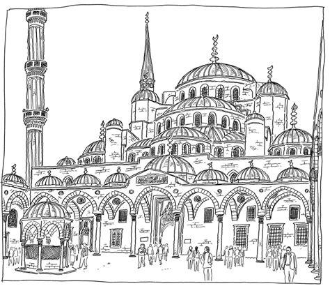 hagia sophia istanbul turkey coloring page coloring 2 turkey istanbul sultanahmet camii blue mosque