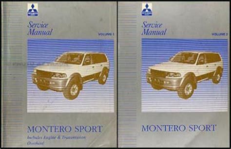 auto repair manual free download 1997 mitsubishi montero head up display 1997 mitsubishi montero sport repair shop manual set original
