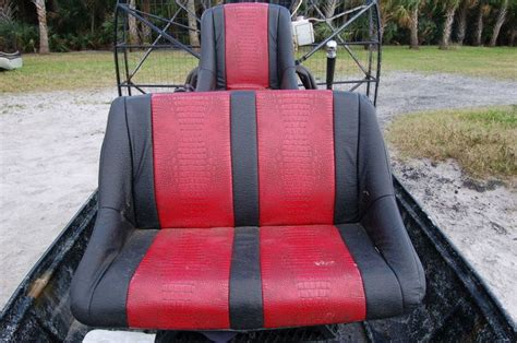 airboat seat covers ostrich and gator seat covers southern airboat picture