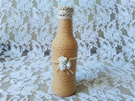 tutorial garrafas decoradas com barbante para festa de