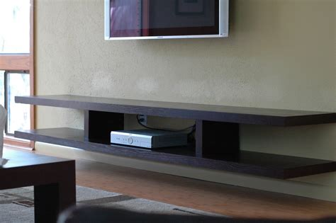 black floating shelves tv for components of