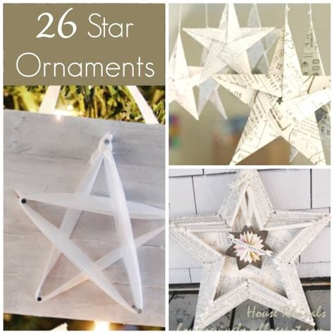 gorgeous star ornaments   happy hooligans