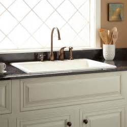 Drop In Farmhouse Kitchen Sinks 42 Quot Cast Iron Wall Hung Kitchen Sink With Drainboard Kitchen
