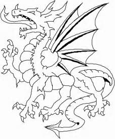 dragons fighting coloring pages