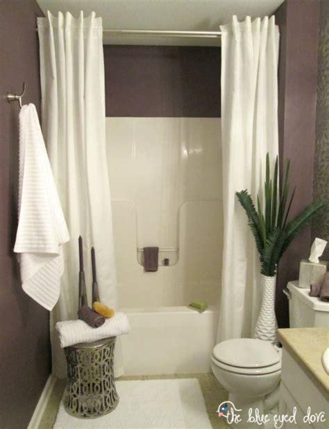 bathroom shower curtains ideas hometalk spa inspired bathroom makeover