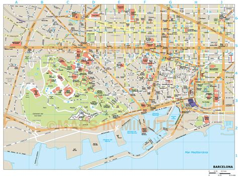 printable map barcelona city centre barcelona city map