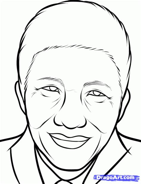 doodle drawing how to how to draw nelson mandela nelson mandela step by step