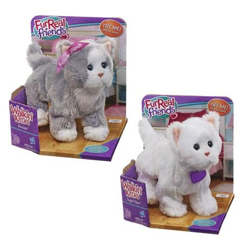 furreal friends walking furreal friends lulus walking kitties wave 3 hasbro furreal friends plush at