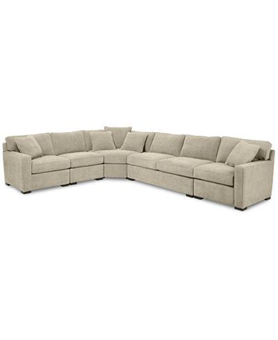 macys radley sectional radley 5 piece fabric sectional sofa with apartment sofa