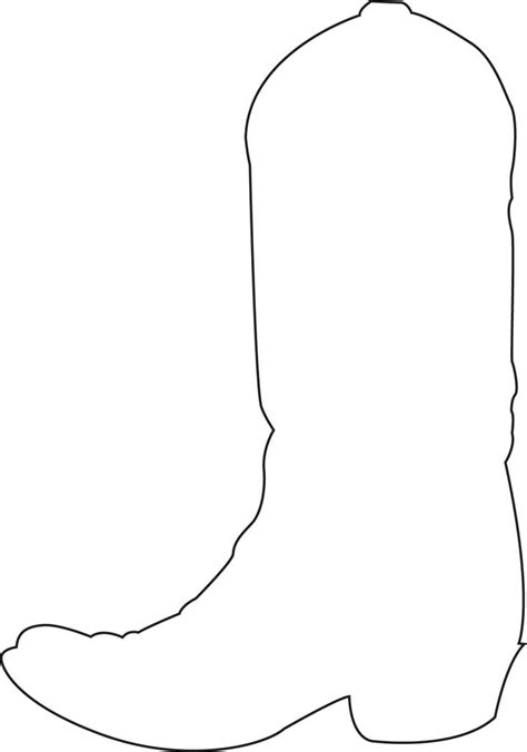 cowboy boot template 1000 images about clip on silhouette