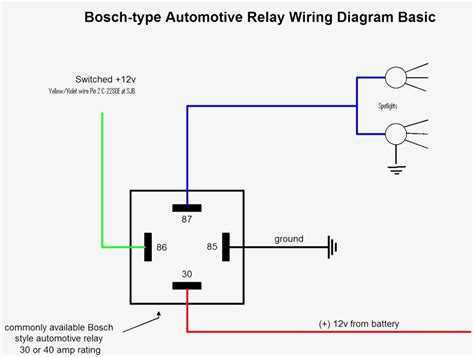 relay electrical diagram great wiring diagram for automotive relay spotlight wiring