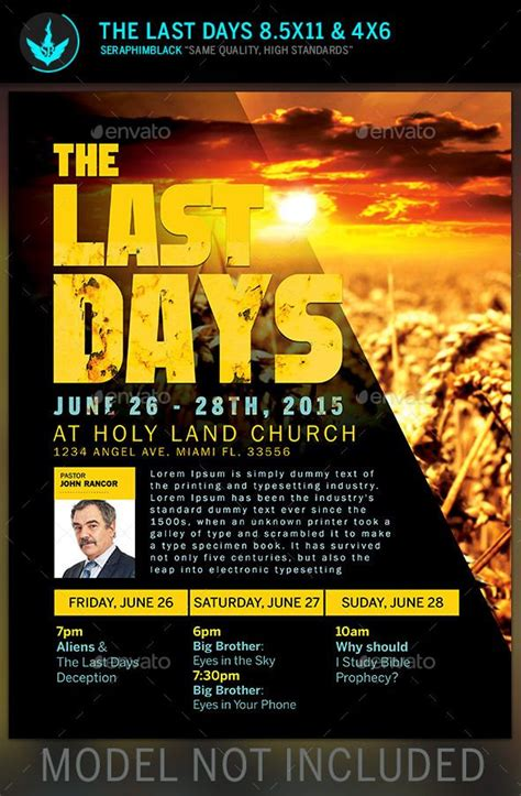 design church flyer online the last days church flyer template photoshop flyer
