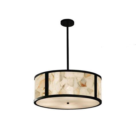 24 inch drum l shade for alabaster shade pendant bellacor
