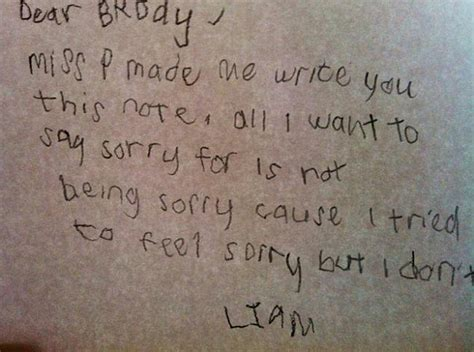 Apology Letter For Not Keeping In Touch Is This The Best Collection Of Not So Sorry Apology Notes Daily Mail