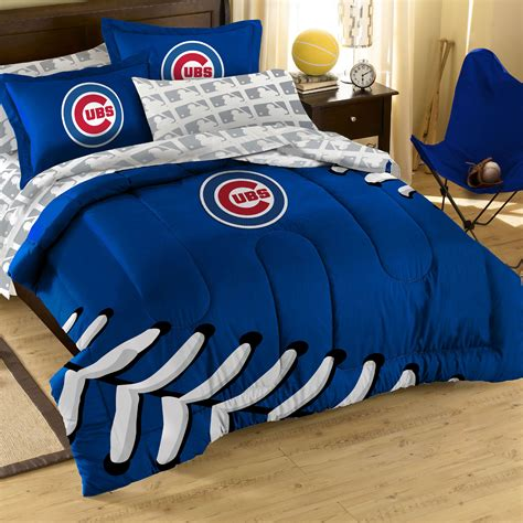 5pc mlb chicago cubs comforter set baseball bedding set
