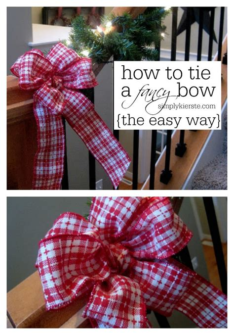 how to tie a christmas bow with ribbon how to tie a fancy bow simplykierste