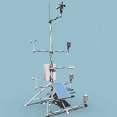 Automatic Radar Sta 3 automatic weather station 3d model