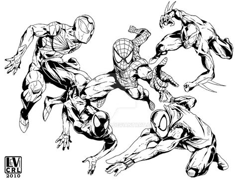 inked spider man forever by kikomachi on deviantart