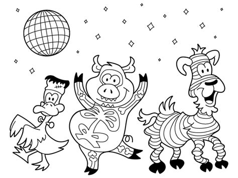 Coloring Pages Dancing Animals | color me fall starlite creative