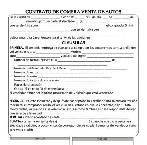 ejemplo contrato por compra de auto nuevo 2016 86 carta responsiva compra venta ley y hombre