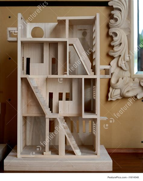 architects balsa wood scale model picture