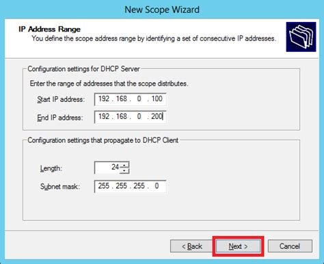 subnetting tutorial point windows server 2012 dhcp role