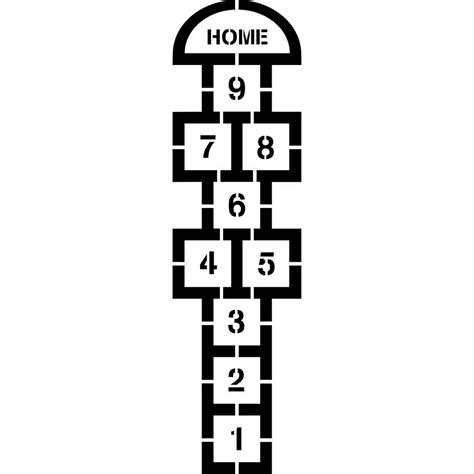 Home Daycare Decor by Stencil Ease Classic Hopscotch Stencil Cc0300 The Home Depot