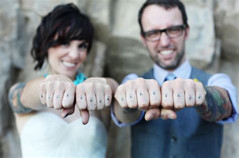 married couples tattoo stay true wedding marriage finger